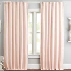 2 panels. PBK Evelyn Blackout Curtains in Blush